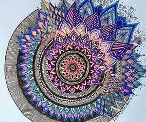 mandala, art, and zentangle art image