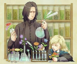 harry potter, luna lovegood, and severus snape image