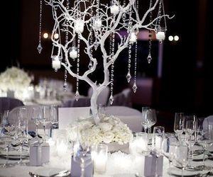 wedding, tree, and winter image