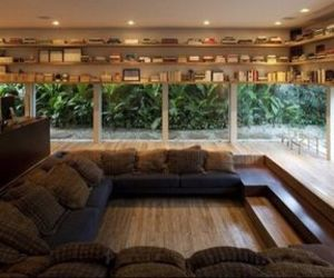 books, home decor, and sitting area image