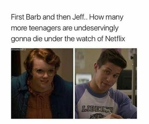 13 reasons why, jeff atkins, and stranger things image