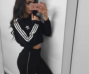 adidas, curly hair, and sporty image
