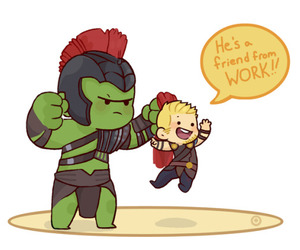 fan art, thor, and Marvel image