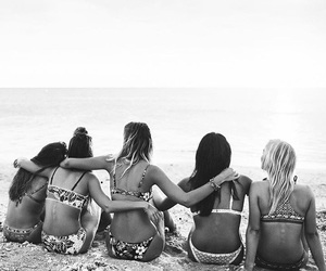 black and white, summer, and friends image