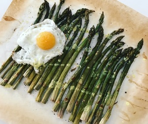 asparagus, foodporn, and egg image