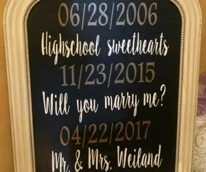 highschool, sweetheart, and wedding image