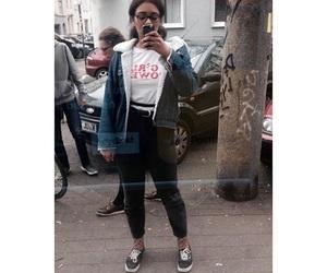 city, denim, and denim jacket image