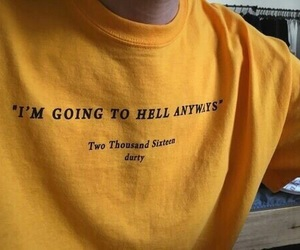 yellow, aesthetic, and hell image