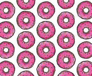 patterns, pink, and the simpsons image