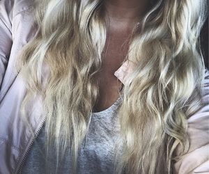 beauty, blonde hair, and curls image
