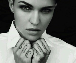 black and white and ruby rose image