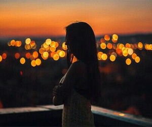 city, lights, and loneliness image