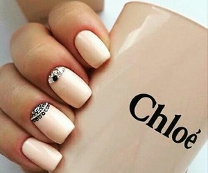 elegant nails, chloe, and pastel colors image