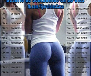 squats, exercises, and challenge image