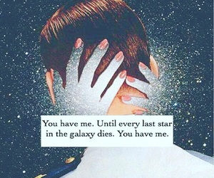 love, galaxy, and me image