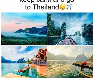 fly, thailand, and landscape image