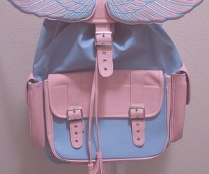 pink, bag, and blue image