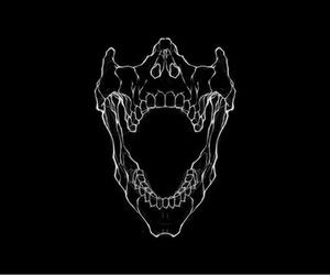 black and white, skull, and tatoo image