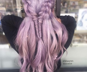 braid, hairstyle, and pink image