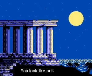 art, Greece, and blue image