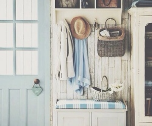 home, blue, and vintage image