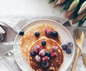 pancakes, breakfast, and morning image