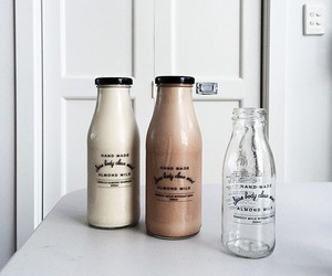 drink, milk, and food image