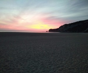 beach, portugal, and sunset image
