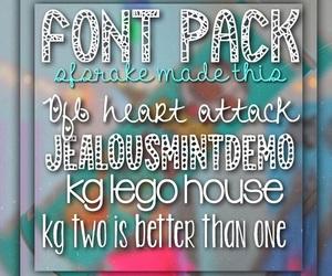 fonts, font pack, and font packs image