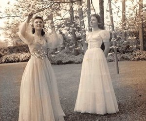 1940s, formal wear, and blossom tree image
