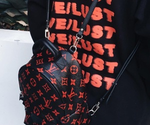 fashion, Louis Vuitton, and red image