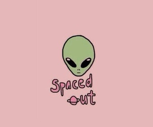 wallpaper, alien, and pink image