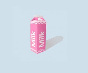 milk, blue, and pink image
