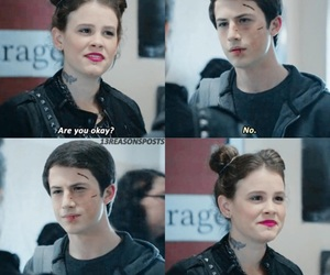 13 reasons why, skye, and clay jensen image