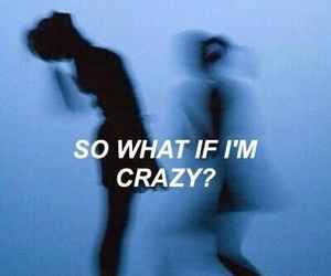 blue, crazy, and girl image