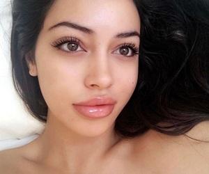 alternative, brunette, and cosmetics image