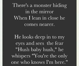 monster, baby, and mirror image