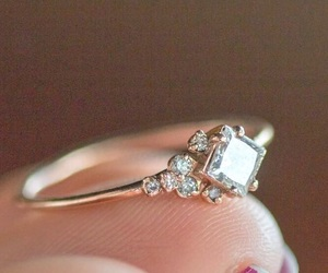 vintage, wedding, and engagement ring image