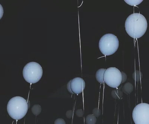 balloons, grunge, and dark image