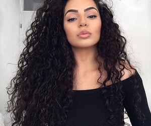 girl, arab, and curly hair image