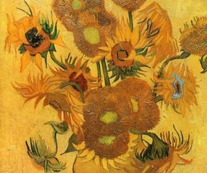 van gogh and sunflower image