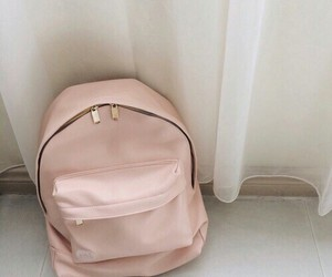 pink, backpack, and bag image