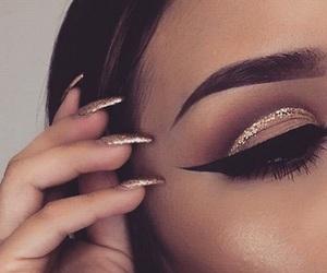 makeup, eye, and nails image