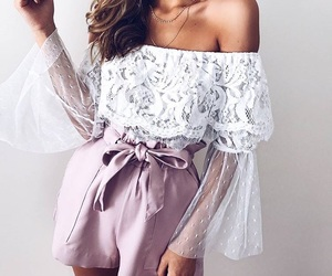 blouse, fashion, and hair image