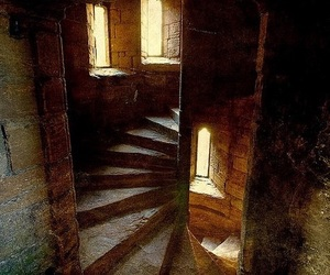 castle, passage, and stairs image