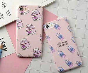 case, phone, and pink image