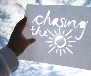 quote chasing the sun image