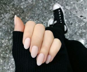 almond, converse, and nails image