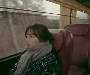 bus, girl, and inspiration image