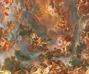 art, ceiling, and roman image